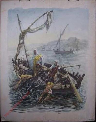 Zij haalden een grote menigte vissen binnen. Luc. 5:4-11